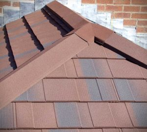 Ember colour tiled conservatory roof