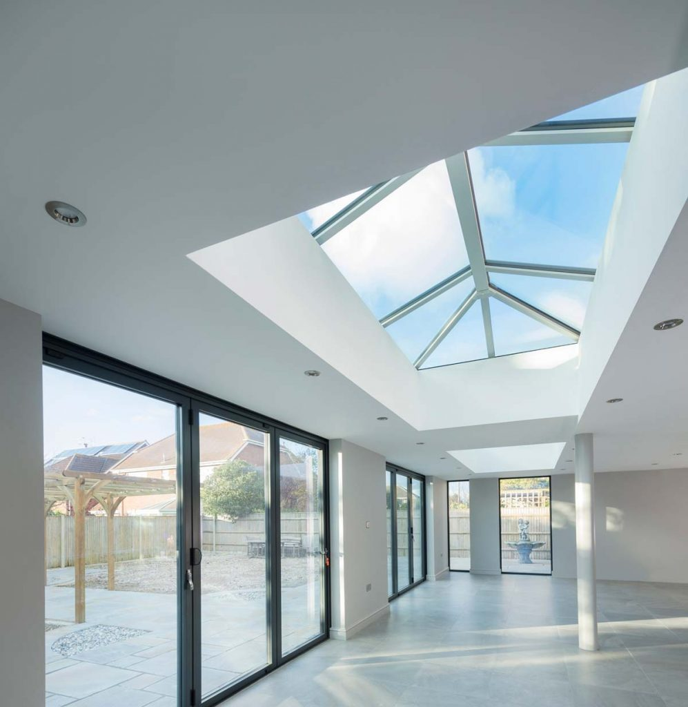 Lantern roof orangery extension